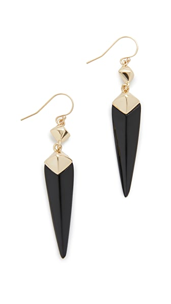 Alexis Bittar Double Pyramid Drop Earrings