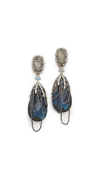 Alexis Bittar Draping Fringe Earrings