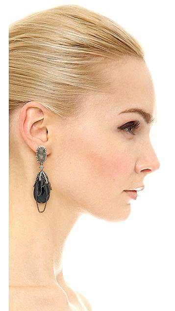 Alexis Bittar Draping Fringe Earrings