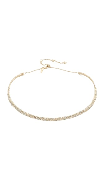 Alexis Bittar Crystal Spike Choker Necklace