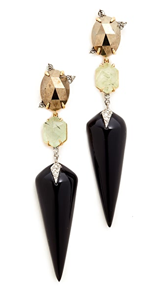 Alexis Bittar Mosaic Futurist Dangling Earrings