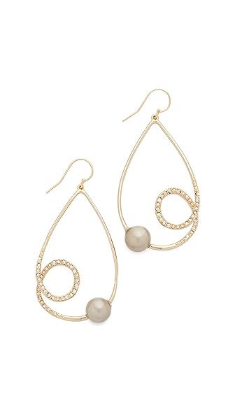Alexis Bittar Crystal Encrusted Coiled Tear Earrings