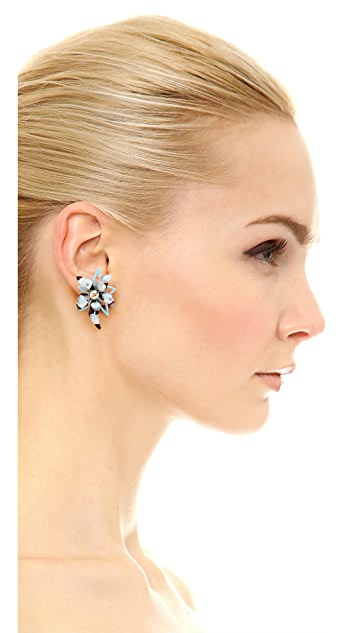 Alexis Bittar Abstract Flower Screw Earrings