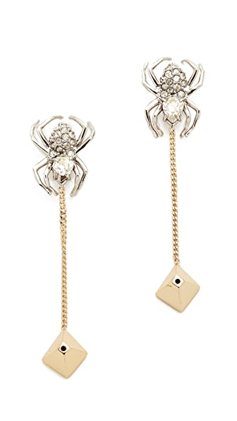 Alexis Bittar Spider Draping Chain Earrings