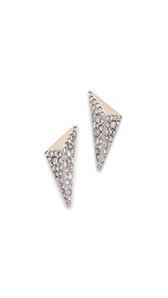 Alexis Bittar Two Tone Pyramid Earrings
