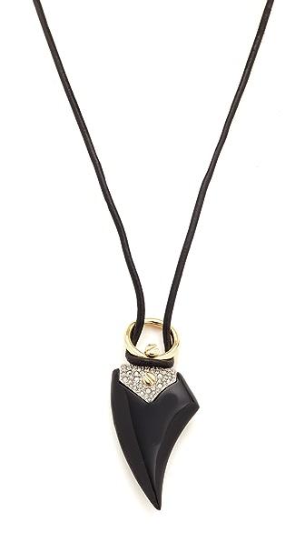 Alexis Bittar Crystal Encrusted Thorn Necklace - Black