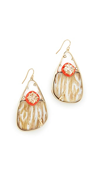 Alexis Bittar Woodgrain Wire Earrings