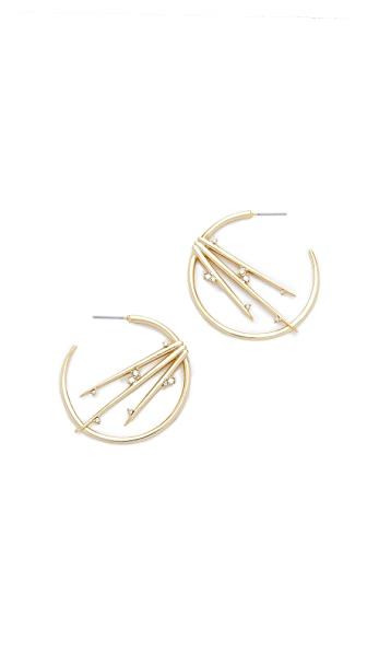 Alexis Bittar Satellite Crystal Spike Hoop Earrings - Gold