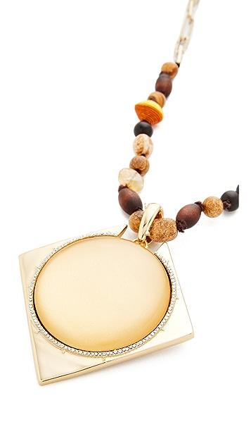 Alexis Bittar Removable Geometric Pendant Necklace
