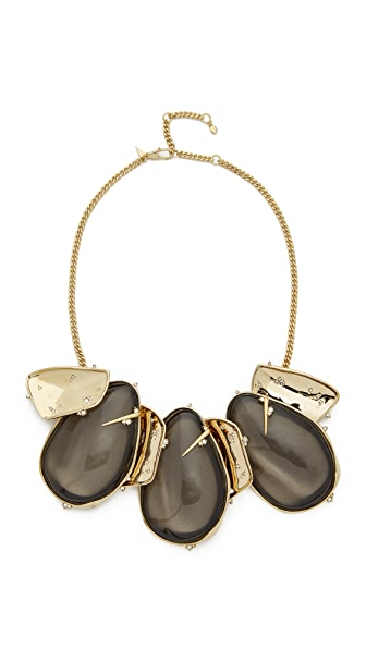 Alexis Bittar Sculptural Bib Necklace - Ash