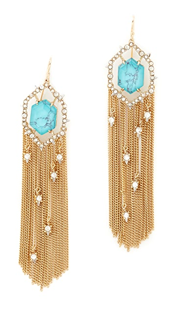 Alexis Bittar Crystal Framed Tassel Earrings