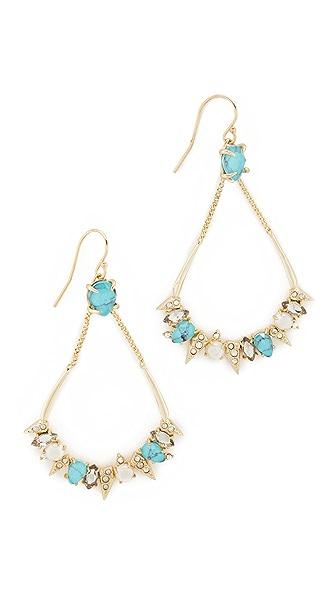 Alexis Bittar Pavé Spike Stone Cluster Earrings - Gold