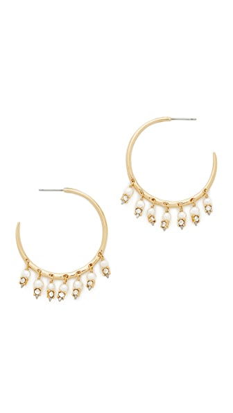 Alexis Bittar Crystal Lace Chandelier Hoop Earrings