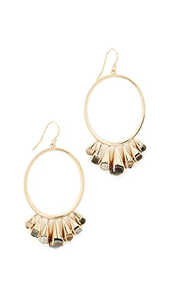 Alexis Bittar Arrayed Stone Cluster Wire Earrings