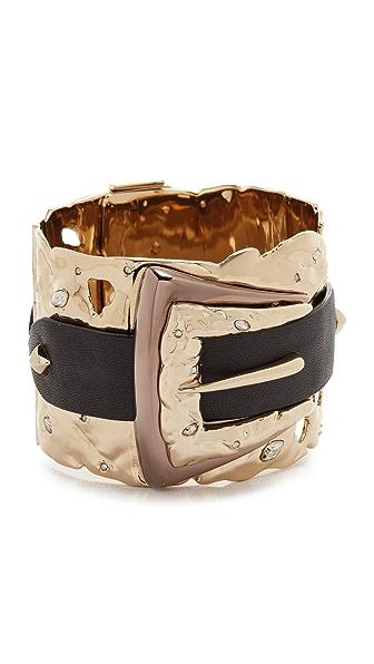 Alexis Bittar Crystal Buckle Cuff Bracelet - Gold