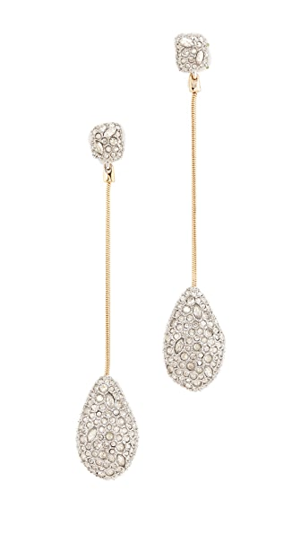 Alexis Bittar Crystal Drop Earrings - Rhodium/Gold
