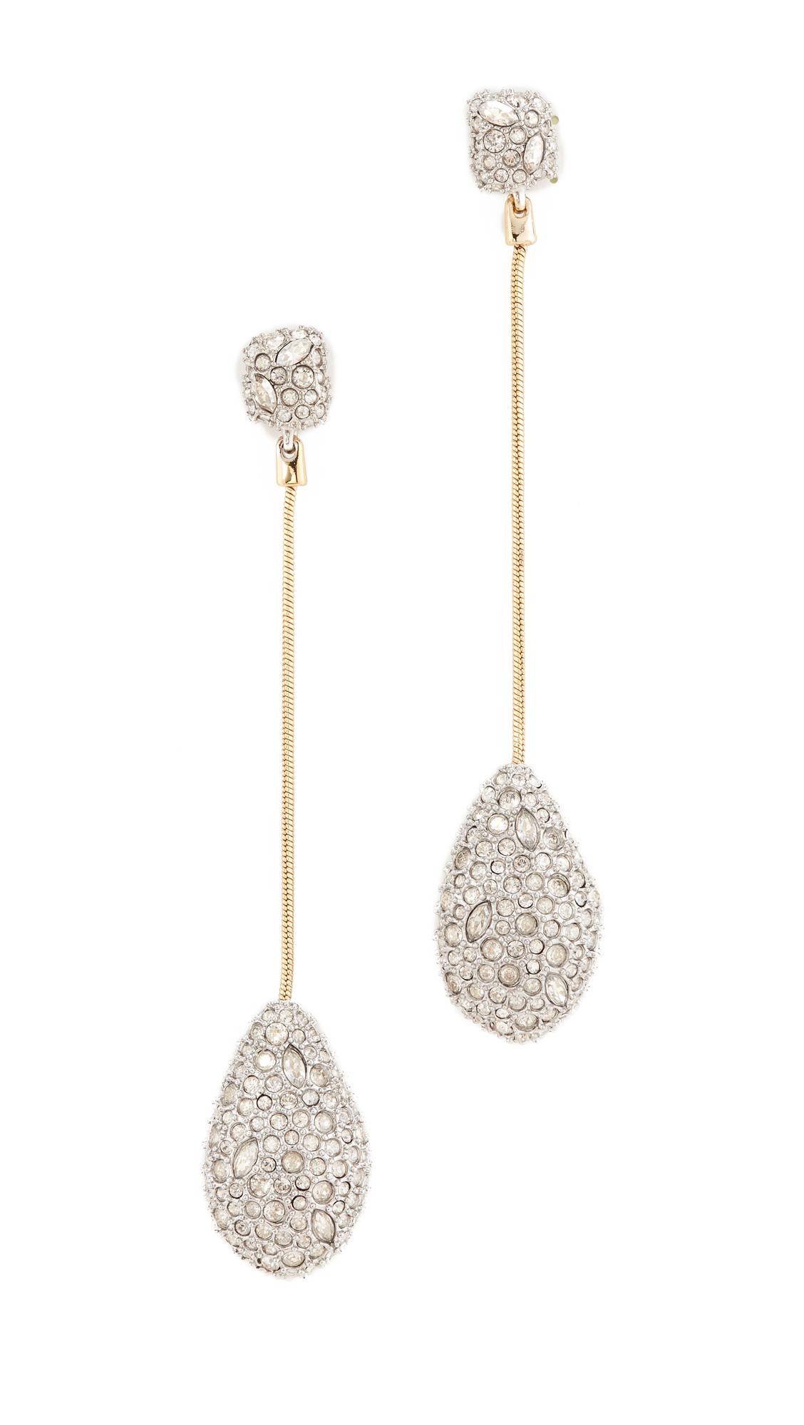 Alexis Bittar Crystal Drop Earrings - Rhodium/Gold