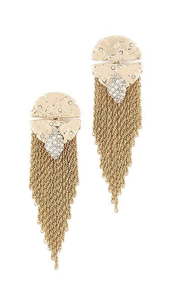 Alexis Bittar Fringe Earrings In Gold