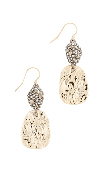 Alexis Bittar Hammered Crystal Earrings