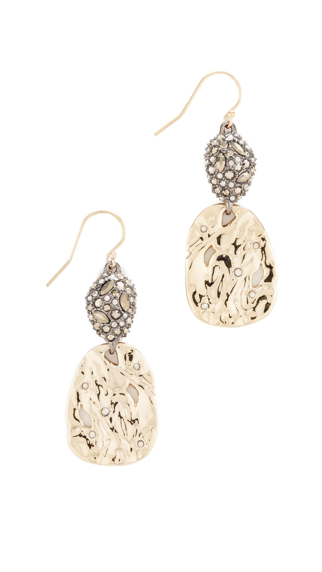 Alexis Bittar Hammered Crystal Earrings
