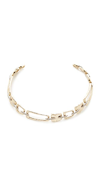 Alexis Bittar Link Choker Necklace In Gold/Rhodium