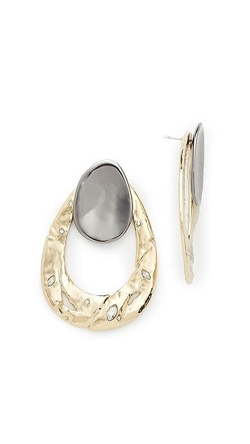 Alexis Bittar Open Hammered Earrings