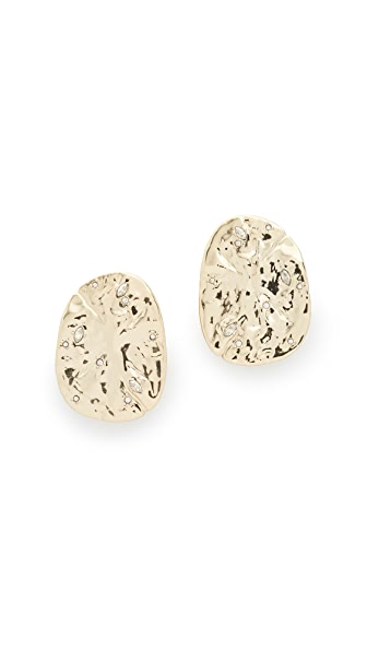 Alexis Bittar Hammered Clip On Earrings In Gold