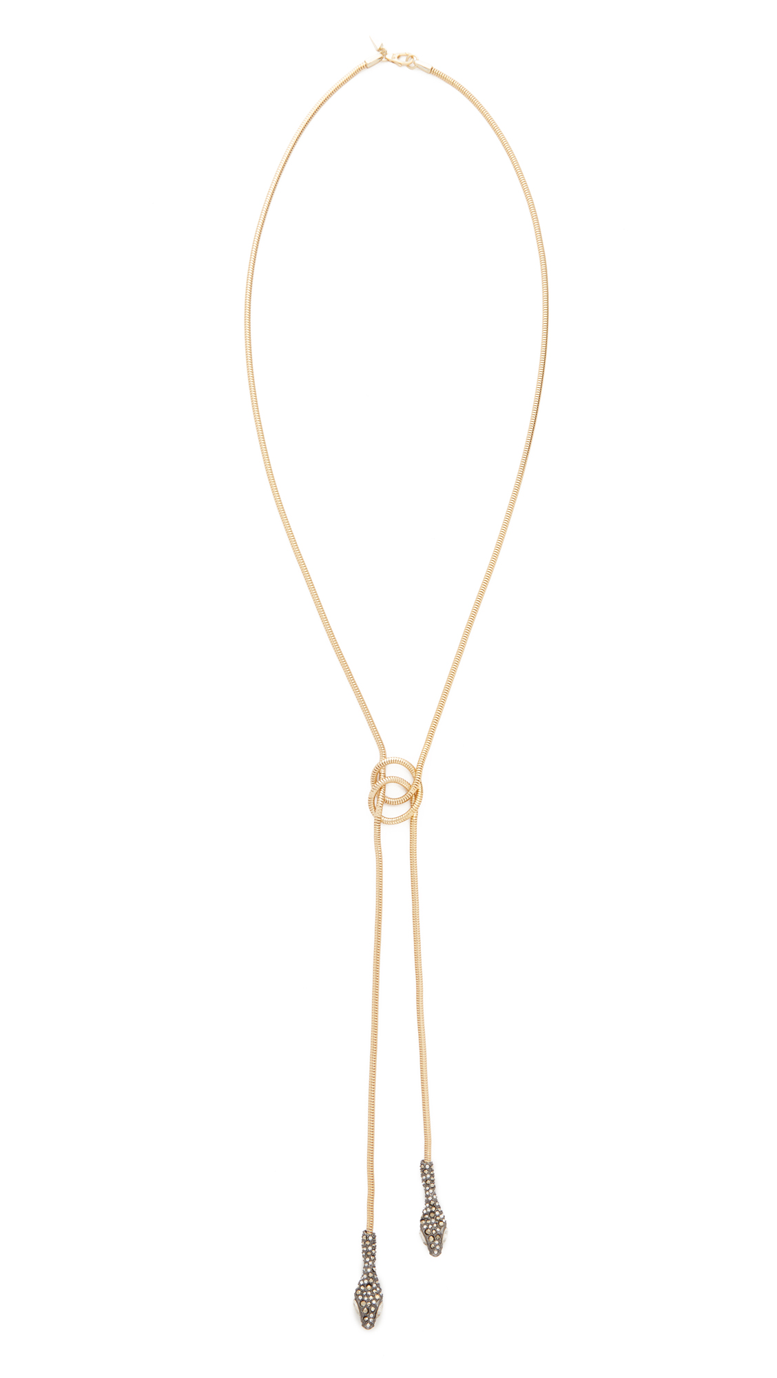 Alexis Bittar Lariat Knot Necklace - Gold