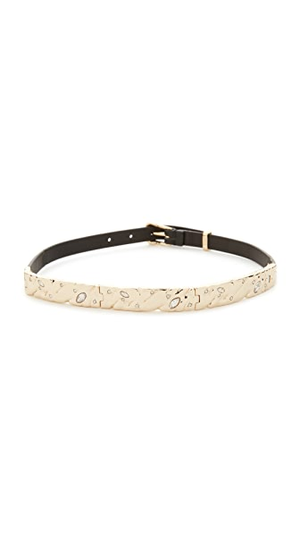 Alexis Bittar Plate Choker Necklace In Gold