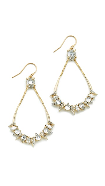 Alexis Bittar Crystal Mosaic Teardrop Earrings