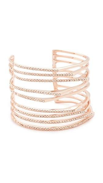 Alexis Bittar Crystal Origami Cuff Bracelet - Rose Gold