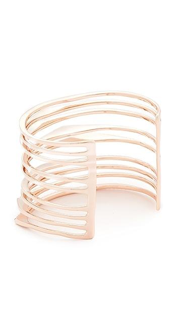 Alexis Bittar Crystal Origami Cuff Bracelet