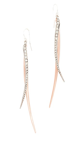 Alexis Bittar Two Tone Crystal Earrings