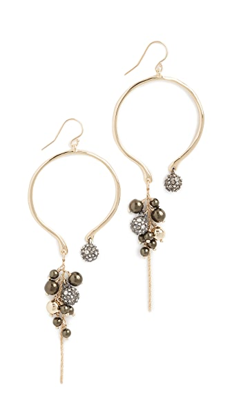 Alexis Bittar Bead Cluster Arc Earrings In Gold With Ruthenium