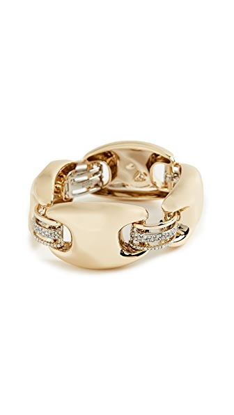 Alexis Bittar Asymmetrical Bracelet In Gold/Ruthenium