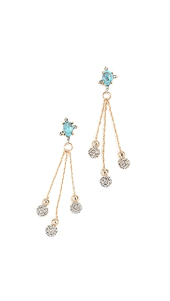 Alexis Bittar Crystal Ball Drop Earrings In Gold/Ruthenium