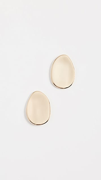 Alexis Bittar Shallow Watery Dish Earrings