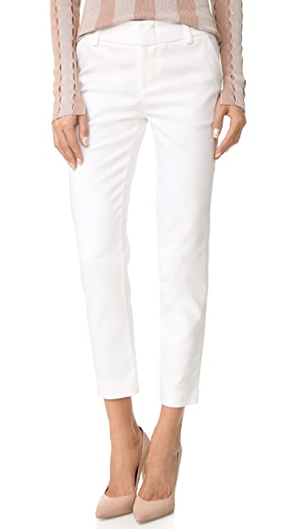 alice + olivia Stacey Slim Pants - White