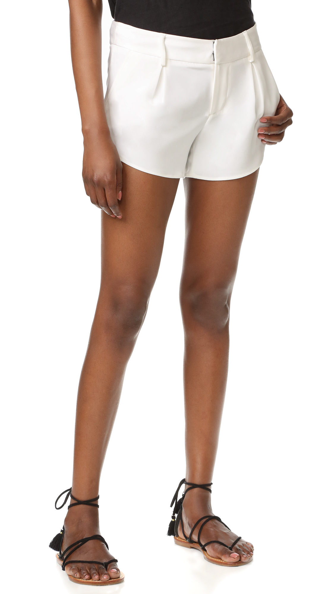 Alice + Olivia Butterfly Shorts - White at Shopbop