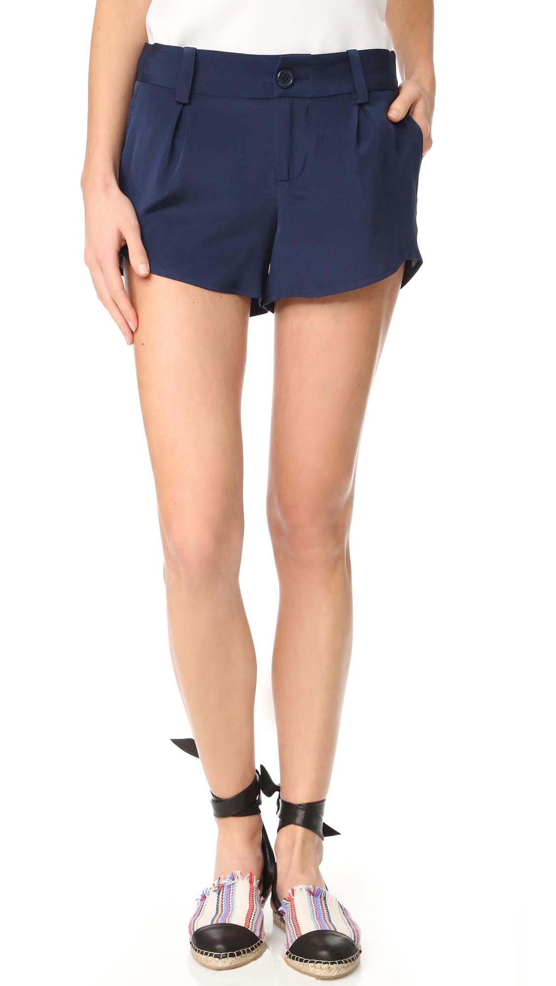 Alice + Olivia Butterfly Shorts - Navy at Shopbop