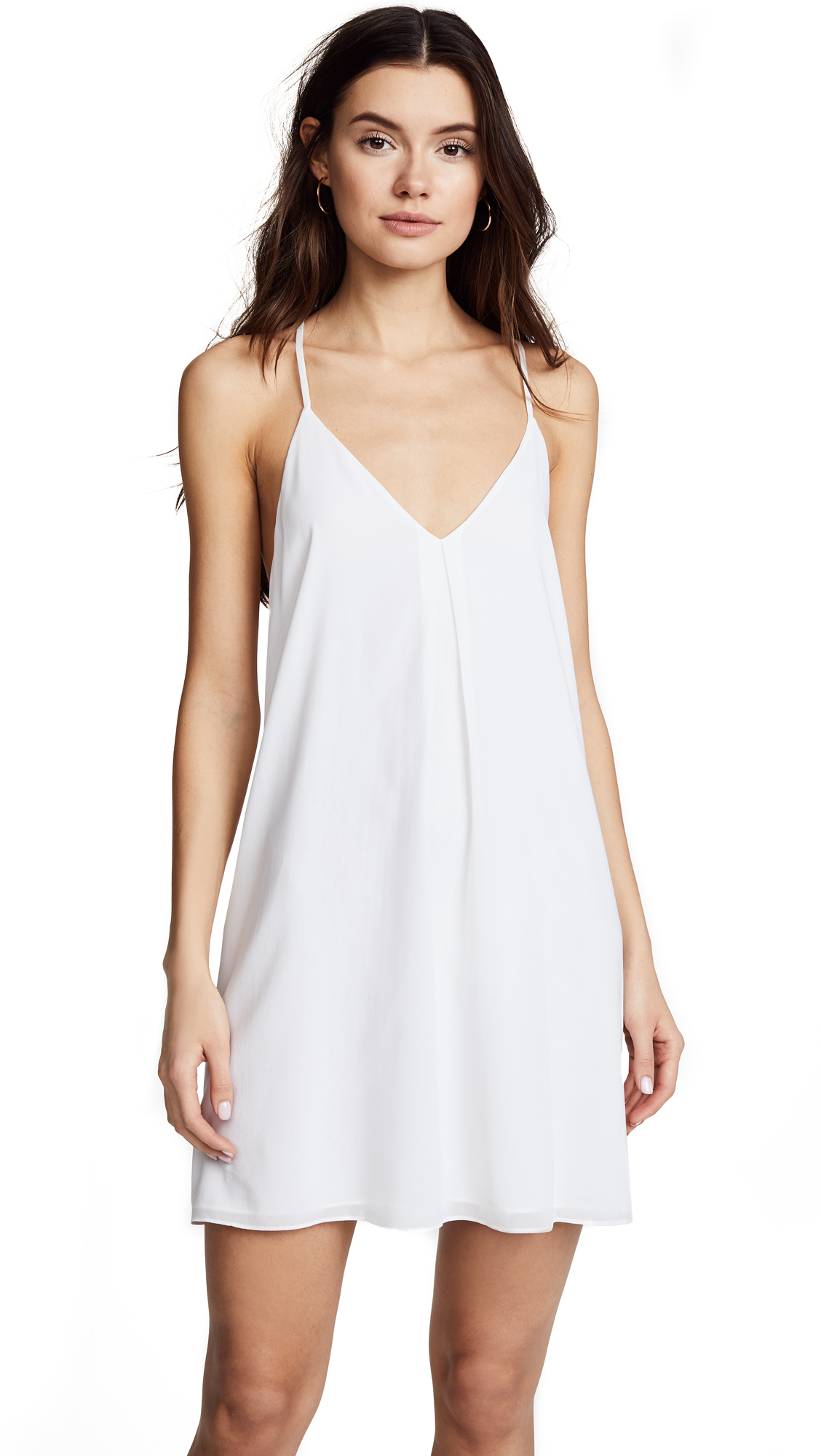 alice + olivia Fierra Y Back Tank Dress - White