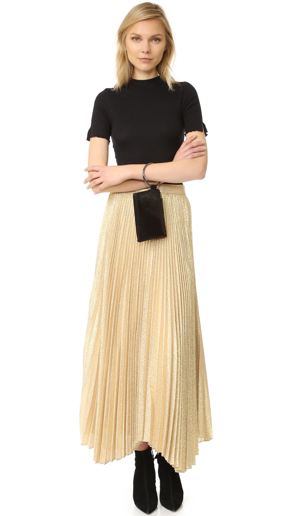 a2502c5cb alice + olivia Katz Sunburst Pleated Maxi Skirt | SHOPBOP