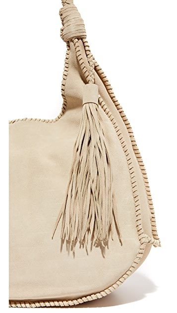 alice + olivia Andrew Suede Hobo Bag