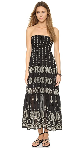 alice + olivia Lysa Embroidered Maxi Skirt