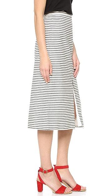 alice + olivia Sabrena A-Line Midi Skirt