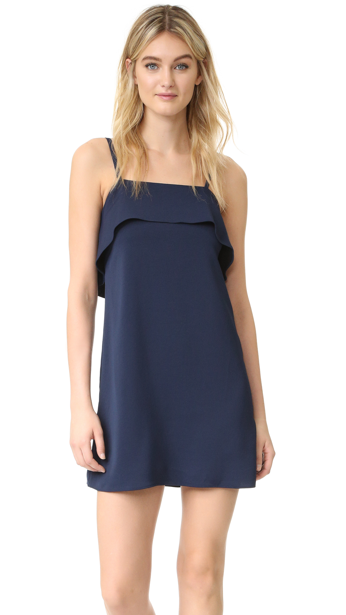 Alice + Olivia Etta Ruffle Slip Dress - Sapphire at Shopbop