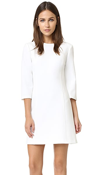 alice + olivia Gem 3/4 Sleeve Shift Dress - Off White