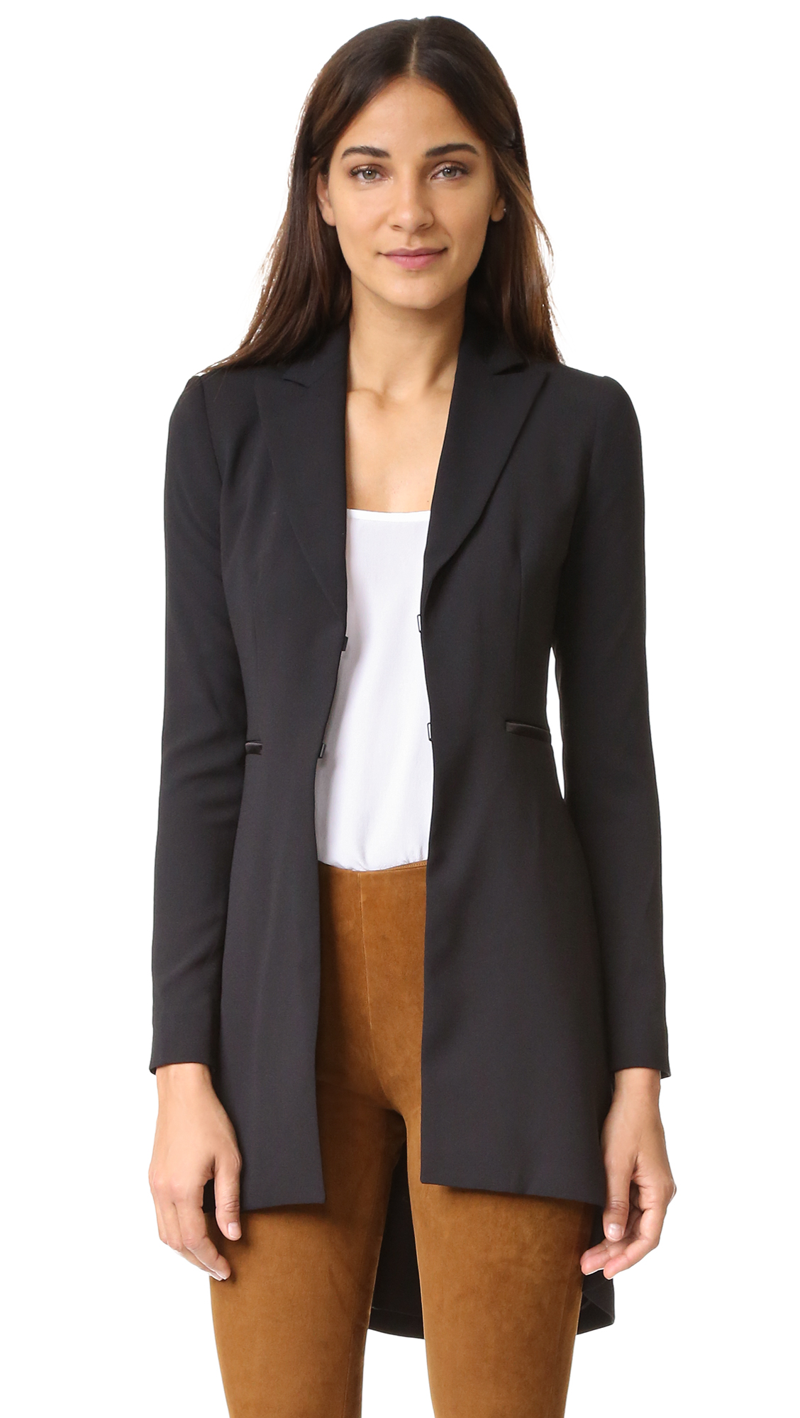 Alice + Olivia Jordyn Collared Back Pleat Blazer - Black at Shopbop