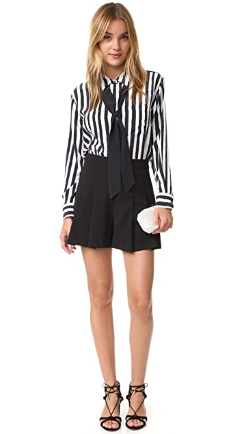 alice + olivia Winslet Pleated Shorts