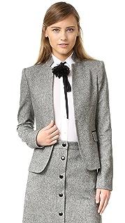 alice + olivia Harris 皮革贴片外套